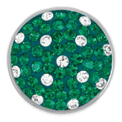 Ginger Snaps TEAM GREEN & WHITE SUGAR SNAP SN32-41 Interchangeable Jewellery Snap Accessory