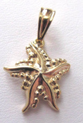 18k Gold Overlay Starfish Charm About 1.3cm L