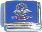 North Dakota State Flag Italian Charm Bracelet Jewellery Link