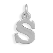Alphabet Letter S Charm Sterling Silver - Made in the USA