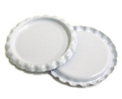 100 Flattened White ON BOTH SIDES Coloured Bottlecaps Flat Colour two Side 2 New