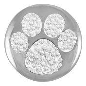 Ginger Snaps PAW PRINT SUGAR SNAP SN32-26 Interchangeable Jewellery Snap Accessory
