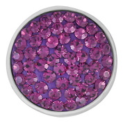 Ginger Snaps AMETHYST SUGAR SNAP SN32-04 Interchangeable Jewellery Snap Accessory