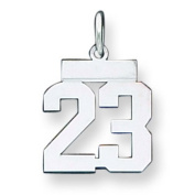 Sterling Silver Small Polished Number 12. Metal Weight- 0.72g.