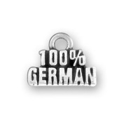 100 Percent German Sterling Silver Charm Word Charm
