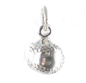 Baseball 3D Solid Ball Sterling Silver Charm