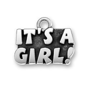 It's a Girl, Newborn Baby Sterling Silver Charm