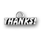Thanks! Sterling Silver Thank You Charm