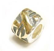 14k gold 925 Sterling Silver Money DOLLAR SIGN LOGO Bead for Pandora Troll European Charm Bracelets