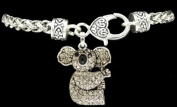 From the Heart Clear Crystal Sparkling Rhinestone Koala Bear Charm on Heavy Bracelet with Heart Lobster Claw Closure- Koala Bear Charm is approximately 2.5cm long. Celebrate the Precious Endangered Species & Your Fascination with this Interesting Anim ..