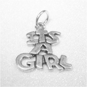 It's a Girl Sterling Silver Charm