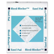 TOPS Bleed-Blocker Easel Pad, Unruled, 27 x 34, White, Two 40-Sheet Pads/pack