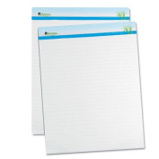 Universal Sugarcane Based Easel Pads, 2.5cm Rule, 27 x 34, White, 2 50-Sheet Pads/Pack