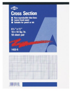 Staedtler(R) Nonphoto Cross-Section Drawing Paper, 10 x 10 Grid, 22cm x 28cm