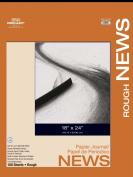Pro Art 46cm by 60cm Rough Newsprint Pad Paper, 100 Sheets