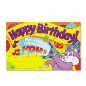 TREND T8100 - Recognition Awards, Happy Birthday!, 8-1/2w x 5-1/2h, 30/Pack-TEPT8100