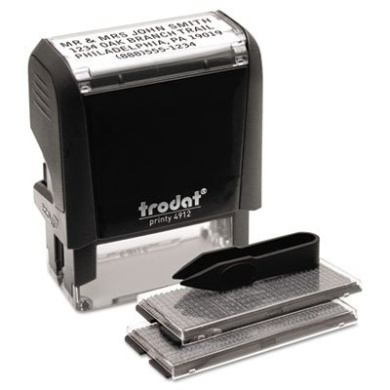 Trodat 5915 - Self-Inking Do It Yourself Message Stamp, 3/4 x 1 7/8