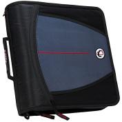 Case-it Large Capacity 7.6cm Zipper Binder, Black, D-146-BLK