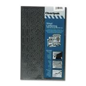 Koh-I-Noor Press-On Vinyl Numbers, Self Adhesive, Black, 2.5cm h, 44/Pack
