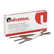Universal : Self-Adhesive Paper And File Fasteners, 2.5cm Capacity, 100 per Box -:- Sold as 2 Packs of - 100 - / - Total of 200 Each