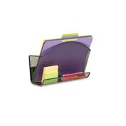 Safco 4180BL - Onyx Magnetic Mesh File Pocket with Accessory Organiser-SAF4180BL