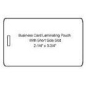 10mil Matte Business Card Pouches with Short Side Slot