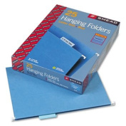 Hanging File Folders, 1/5 Tab, 11 Point Stock, Letter, Blue, 25/Box