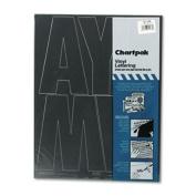 Koh-I-Noor Press-On Vinyl Uppercase Letters, Self Adhesive, Black, 15cm h, 38/Pack