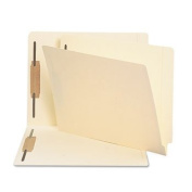 Heavyweight Folders, Two Fasteners, End Tab, Letter, 11 Point Manila, 250/Box