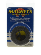 The Magnet Source Flexible Magnetic Strips with Adhesive 2.5cm . x 80cm . [PACK OF 6 ]