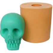 3D Scary Skull Silicone Soap and Candle Mould