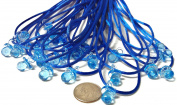 """24 Pcs 1.9cm Mini Blue Plastic Pacifier Necklaces """"Don't Say Baby!"""" for Baby Shower Party Game/ Favours"""