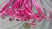 """24 Pcs 1.9cm Mini Pink Plastic Pacifier Necklaces """"Don't Say Baby!"""" for Baby Shower Party Game/ Favours"""