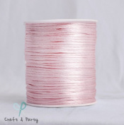 Light Pink 2mm x 100 yards Rattail Satin Nylon Trim Cord Chinese Knot