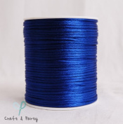 Royal Blue 2mm x 100 yards Rattail Satin Nylon Trim Cord Chinese Knot