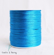 Turquoise 2mm x 100 yards Rattail Satin Nylon Trim Cord Chinese Knot