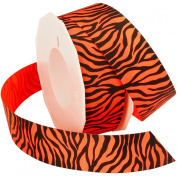 Morex Ribbon Neon Zebra Grosgrain Ribbon