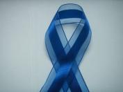 Royal Blue Organza and Satin Ribbon 3.8cm Wide 25 Yards
