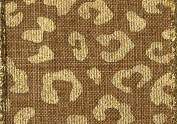 Entertaining with Caspari Linen and Gold Animal Print Wired Ribbon, 6-Yard