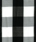 Entertaining with Caspari Black and White Cheque Wired Ribbon, 6-Yard