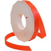 Morex Ribbon Neon Brights Satin, 1.6cm by 50-yard, Neon Orange