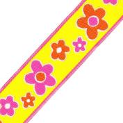 Venus Ribbon 2.5cm Floral Jacquard, 5-Yard