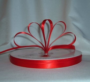 Ribbon - Satin Ribbon- 1cm Single Face 100 Yards (300 FT) - Red - Sewing - Craft - Wedding Favours