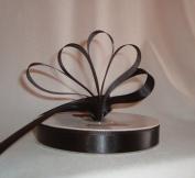 Ribbon - Satin Ribbon- 2.2cm Single Face 50 Yards (150 FT) - Black - Sewing - Craft - Wedding Favours