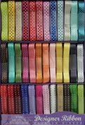Designer Ribbon Value Pack - 36 Colours - 1 Yard Each - Pretty Prints & Patterns