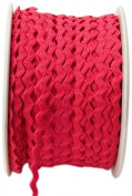 May Arts 0.3cm Wide Ribbon, Raspberry Ric Rac