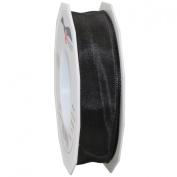 Morex Ribbon French Wired Lyon Ribbon, 2.5cm by 27-Yard Spool, Black