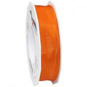 Morex Ribbon French Wired Lyon Ribbon, 2.5cm by 27-Yard Spool, Mandarin