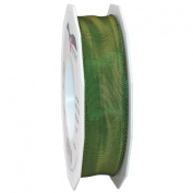 Morex Ribbon French Wired Lyon Ribbon, 2.5cm by 27-Yard Spool, Moss