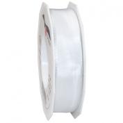 Morex Ribbon French Wired Lyon Ribbon, 2.5cm by 27-Yard Spool, White